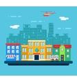 Urban Landscape Hospital Shop Residential House vector image
