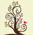 Cute bird lovely design vector image