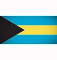 National flag of the Bahamas vector image