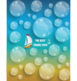 Transparent water drops background vector image vector image