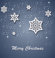 Christmas card with white stars on the background vector image