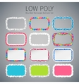 Low Poly Rounded Rectangle Banners Set vector image vector image