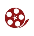 film reel  over white vector image