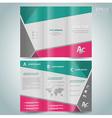 brochure design template leaflet vector image