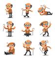 Cartoon senior man character poses vector image