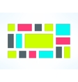 colorful embedded frames set Sunken vector image