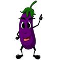 eggplant cartoon thumb up vector image