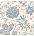 Seamless retro floral vector image