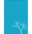tree and polka dots vector image