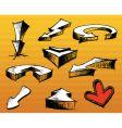 arrows design elements vector image vector image