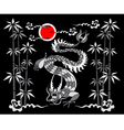 dragon on a black background vector image