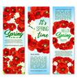 banners for happy spring holiday greetings vector image