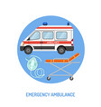medical emergency ambulance concept vector image vector image