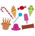 sweets and candies collection vector image vector image