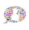 Diversity communication in speech bubble vector image