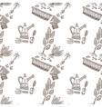 planting seamless pattern vector image