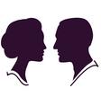 couple profile vector image vector image