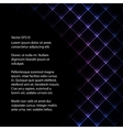 Abstract neon light black backround vector image
