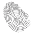 Binary finger print vector image