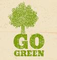 go green vector image