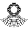 stencil of scottish celtic ring vector image