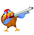 Shooting turkey vector image vector image