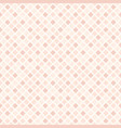 rose diamond pattern seamless vector image