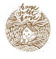 Hand drawn cartoon house vector image