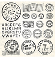 Vintage Stamp Set vector image