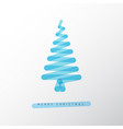 simple minimalistic christmas tree vector image vector image