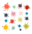 Stains Splashes Blots in Retro Colors vector image vector image