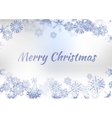 Vintage Christmas Greeting Card With Typography On vector image