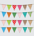 Set of colorful and bright bunting vector image