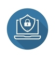 Internet Security Icon Flat Design vector image