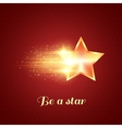 Background with glowing golden star vector image