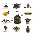 bakery shop badges and cooking labels design vector image