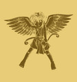 carved style of a cupid vector image
