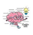 kawaii mental health to creative process design vector image