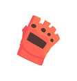 red sportive protective glove cartoon vector image