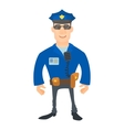 Smiling policeman icon cartoon style vector image