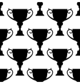 Trophy cup silhouettes seamless pattern vector image