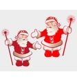 silhouette of Santa Claus c stick vector image