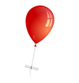 a red balloon with a letter attached vector image vector image
