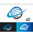 Swoosh Volleyball Logo Icon vector image vector image