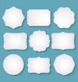 set of paper decorative frames vector image