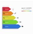 modern arrow infographic element design vector image