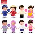 Children of the world Vietnam Philippines Brunei vector image