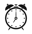 Alarm clock black simple icon vector image
