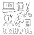 Back to School Supplies Sketchy Notebook Doodles vector image