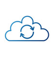 cloud sync refresh backup computing data icon vector image
